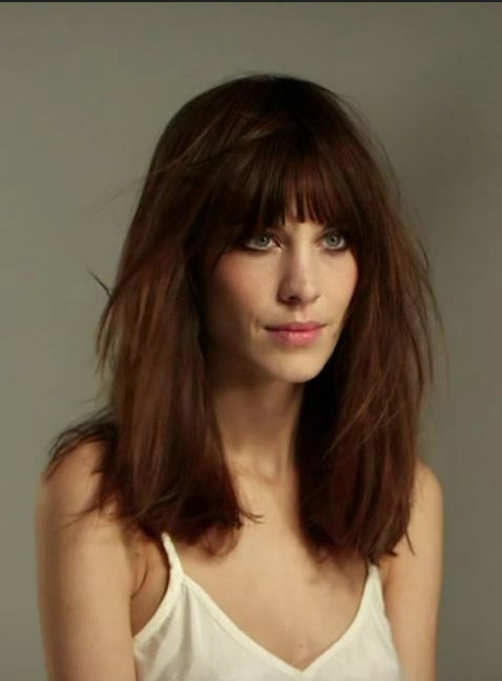 medium haircut with bangs for 5954 best hair ideas images on balcony 5954