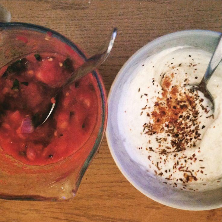 Two tasty dips to go with veggie goujons https://vegemealia.wordpress.com/2016/08/01/voujons-veggie-goujons/