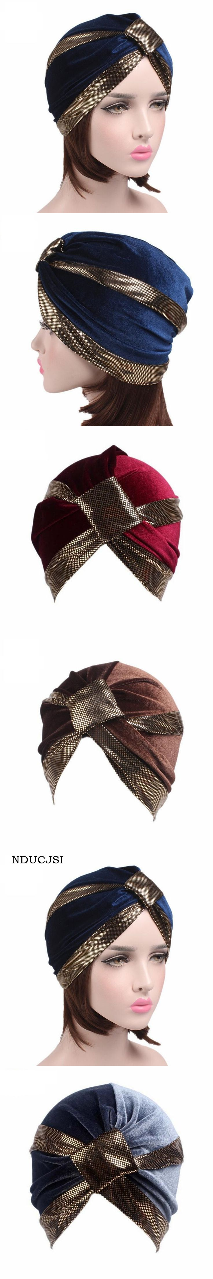 NDUCJSI Fashion Unisex Skullies Neon Stretchy Patchwork Turban Wrap Women Beanies Velvet Sleep Hats Adult Casual India Ear Caps