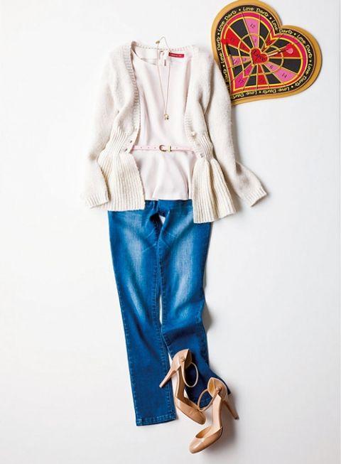 【着まわしday11】モヘアカーディガン×ペプラムブラウス×スキニーデニム | ファッション コーディネート | with online on ウーマンエキサイト