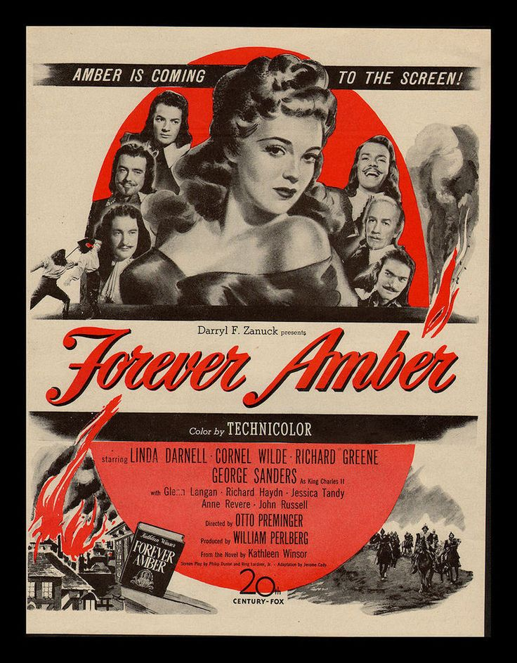 "ORIGINAL1947 ""FOREVER AMBER"" LINDA DARNELL-CORNEL WILDE MOVIE PRINT AD"