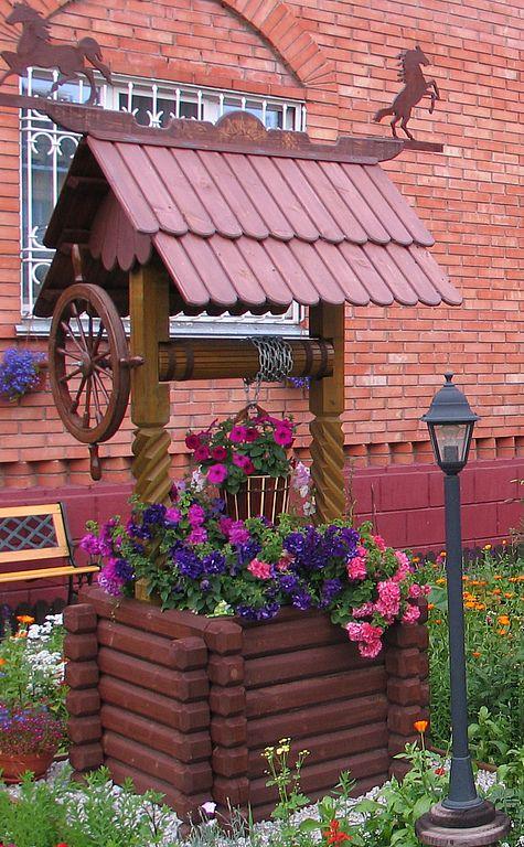 Купить Колодец декоративный № 1, 4 - колодец декоративный, колодец деревянный, изделия из дерева