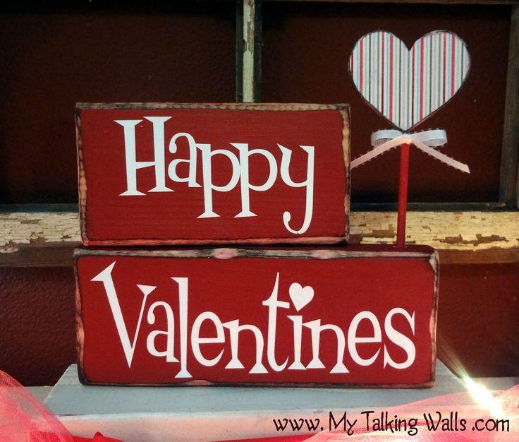 My Talking Walls: Craft Group - DIY valentines day blocks / decor