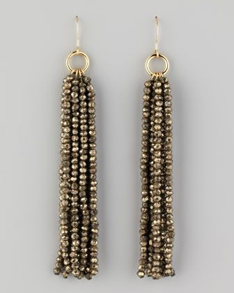 Beaded Tassel Earrings by Nest at Neiman Marcus. I have a zillion seed beads that this would work with.
