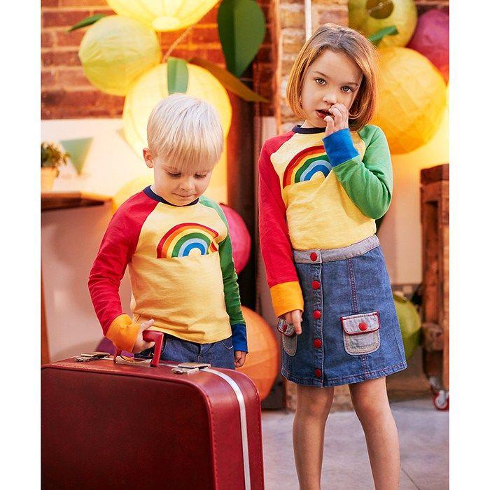Mothercare Little Bird by Jools Raglan Rainbow T-Shirt