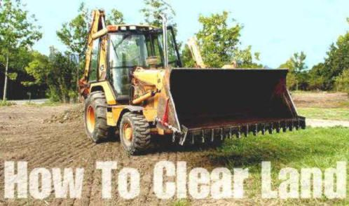 Welcome to How To Clear Land - PDF booklet.