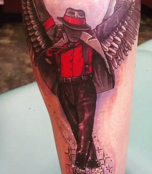 Prince Jackson Gets Large Tattoo Of Michael Jackson On His Leg