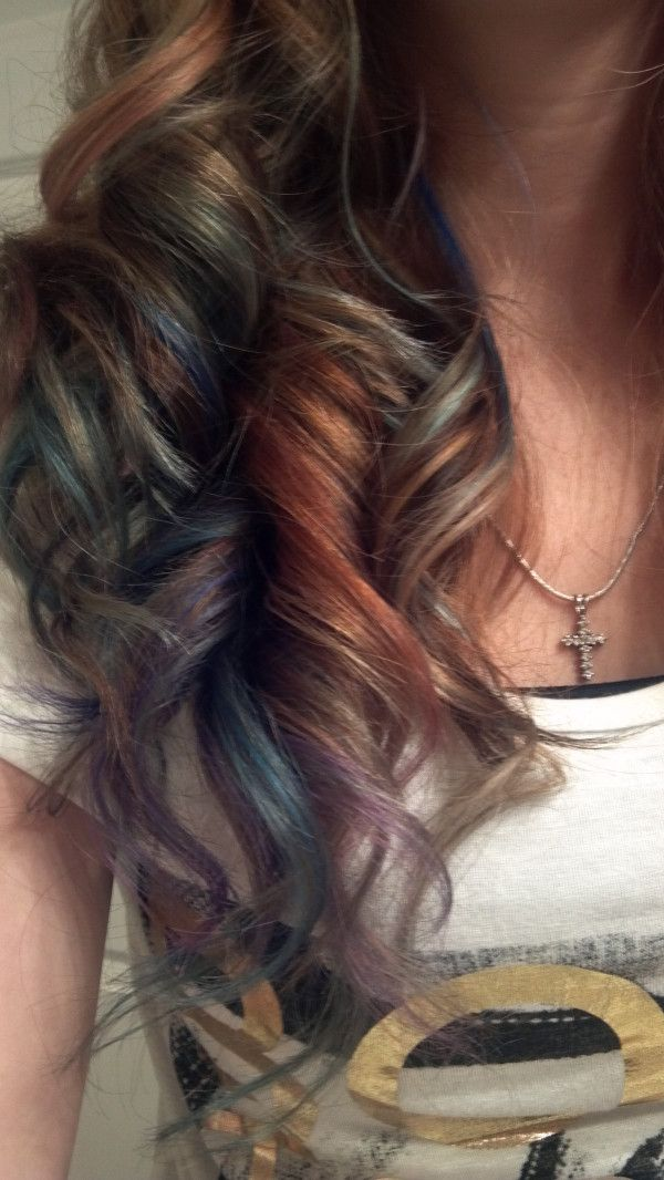 Best 25 colored hair streaks ideas on pinterest streaks hair opal colors in brown i never thought that brown hair would look good with multi colored streaksbut i have been proven wrong i want pmusecretfo Images