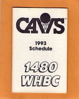 1993-94 NBA BASKETBALL CLEVELAND CAVALIERS GAME POCKET SCHEDULE