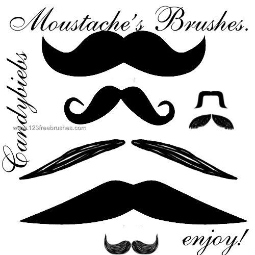 Mustache | Free Brushes | Photoshop brushes, Mustache, Photoshop