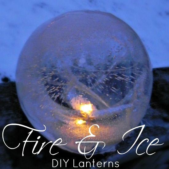 DIY Fire & Ice Lanterns - Mad in Crafts