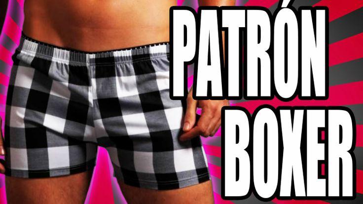 Patrón para coser boxer clásico para hombre. El tutorial incluye el trazado para todos los talles.