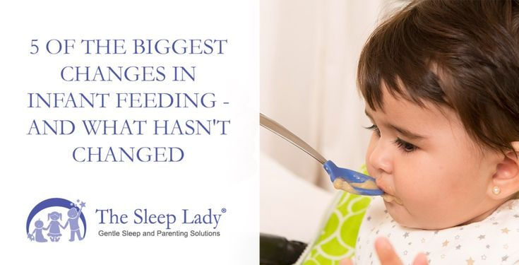5 of the Biggest Changes in Infant Feeding  And What Hasnt Changed [sleeplady.com] 5 of the Biggest Changes in Infant Feeding  And What Hasnt Changed  I remember how clueless I felt when gearing up to feed my first baby. I was given all sorts of advice that made my head want to explode. Because I loved my baby so much I wanted to give her the best.  As a dietitian I decided to dig into the research and have kept up with it ever since (my baby was born 10 years ago!). Since that time there…