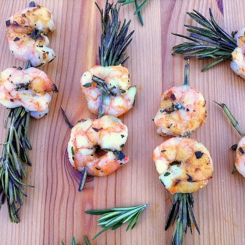 Rosemary Shrimp Skewers by teaspooncomm: Just imagine how these must smell on the grill.  #Shrimp #Rosemary #Appetizers #teaspooncomm: Shrimp Skewers, Recipe, Rosemary Appetizers, Shrimp Rosemary, Rosemary Skewers Shrimp, Appetizers Teaspooncomm, Grilled Shrimp Kabobs, Rosemary Shrimp, Shrimp On The Grilled
