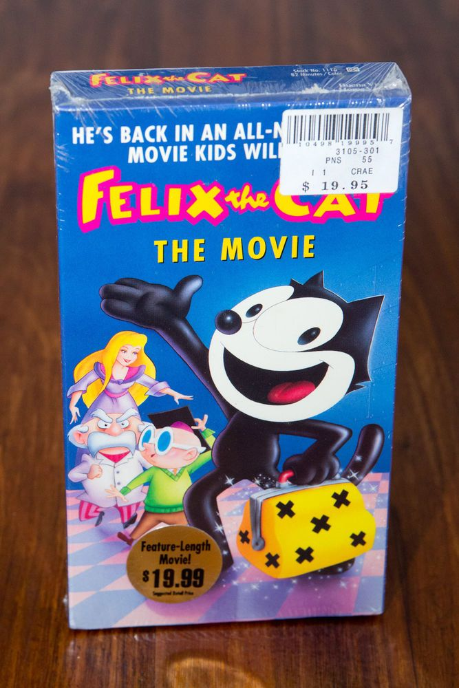 FELIX THE CAT The Movie VHS Video Tape FACTORY SEALED