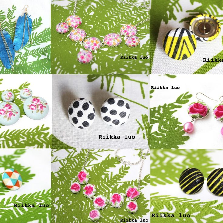 Spring is here! Time to get lighter mind with some button earrings! Now you get free shipping with the code EASTER until the end of March. Happy shopping with Riikka Luo Designs!
