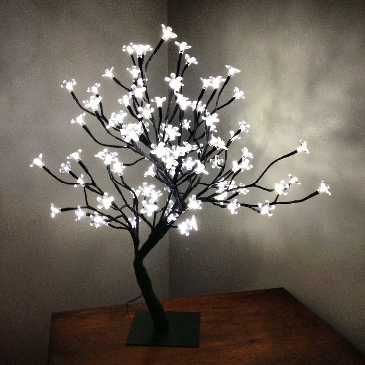Tree Lamp With Light Up Flowers Lamp Ideas Pinterest