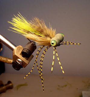 The Booby Frog: Top-water bass fly sink pattern! Home sick for VA and warm river smallies!