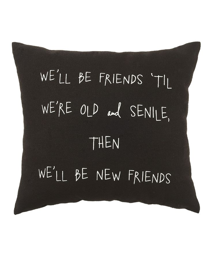 Collins Black Old & Senile Pillow