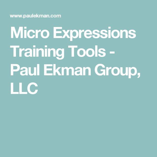 Micro Expressions Training Tools - Paul Ekman Group, LLC