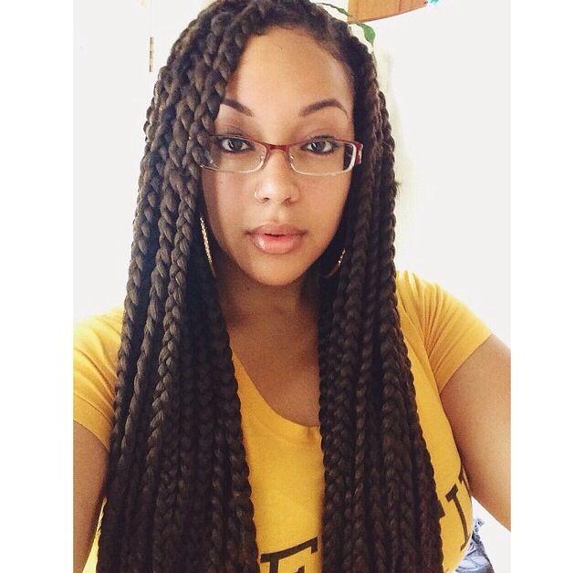 medium large box braids hair