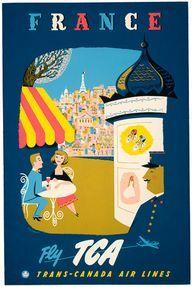 Vintage France Travel Poster
