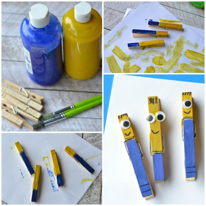 42 best diy minions images on pinterest bricolage bead for Minion clothespins