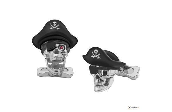 Pirate cufflinks by Deakin & Francis, Pirat, skull, Totenkopf, Manschettenknöpfe, Kostüm, Halloween