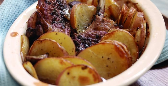 Lamb Chops, cutlets or chump chops Lancashire Hotpot. Serve with seasonal vegetables.