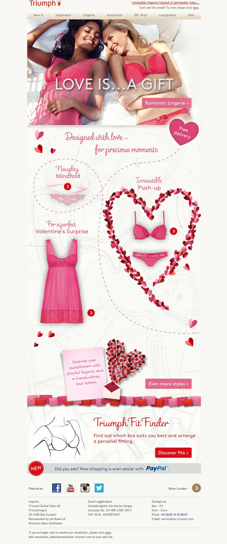 #newsletter Triumph 01.2014  ♥ Love greetings for Valentine's Day ♥