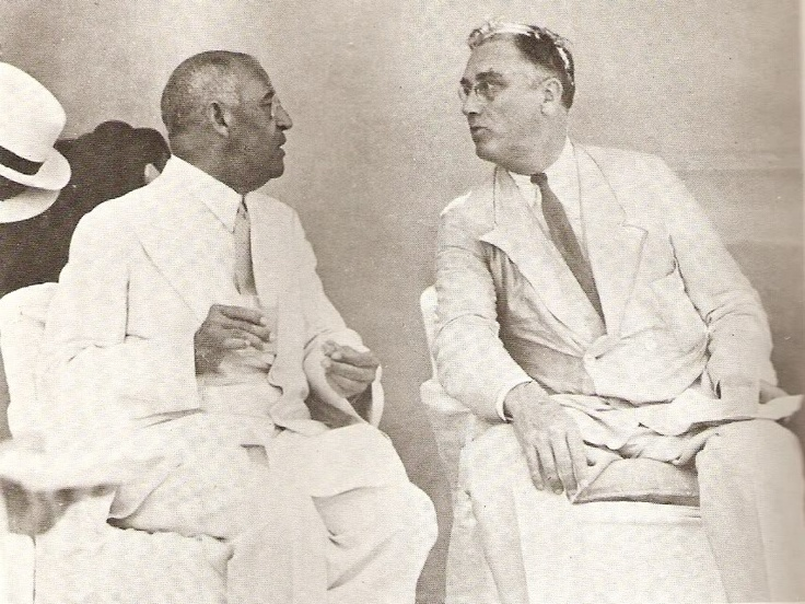 Haitian President Sténio Vincent And President Franklin Roosevelt Sipping Rum Punch At The Union Club In Cap-Haitien