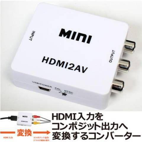 「HDMIをコンポジットへ変換するアダプタ」は、その名の通りHDMI入力をコンポジット出力へ変換するコンバーター。 (ゆ