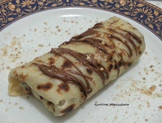 Χριστίνας....Μαγειρέματα!: Κρέπες με πραλίνα και μπισκότο!