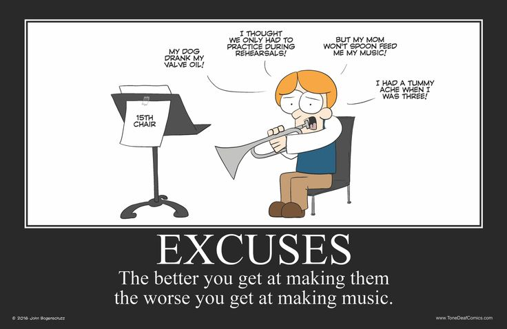 Excuses Motivational Poster. Get this poster at http://www.tonedeafstore.com/collections/newest-posters/products/excuses-motivational-poster
