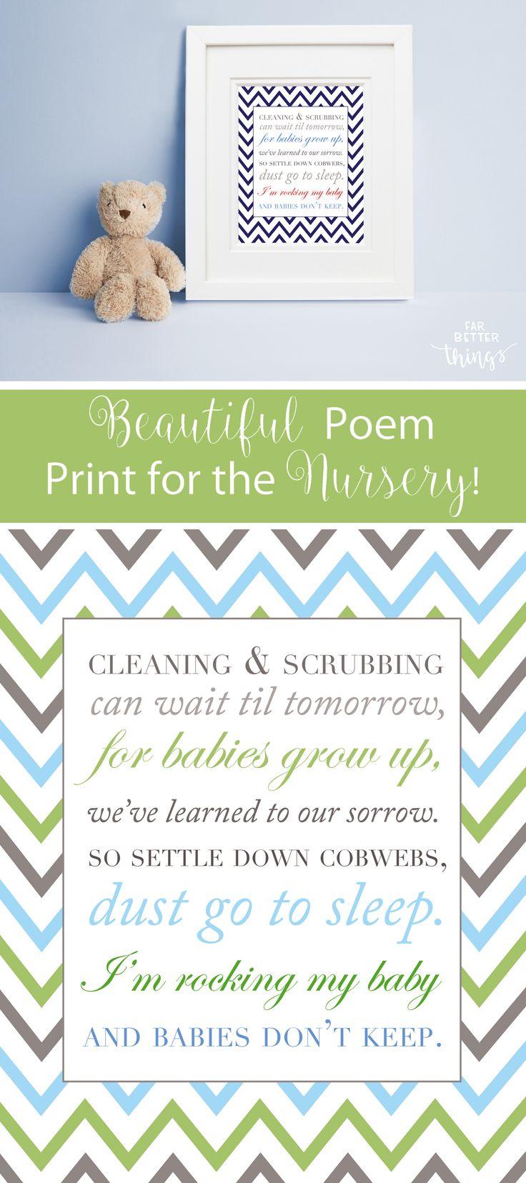 Babies Don't Keep - Nursery Art - Nursery Poem - Chevron Nursery Art - Nursery Print - Custom Nursery Art - Baby Shower Gift - Nursery Decor by Far Better Things on Etsy