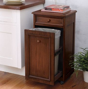 Mobile Waste Bin traditional kitchen trash cans