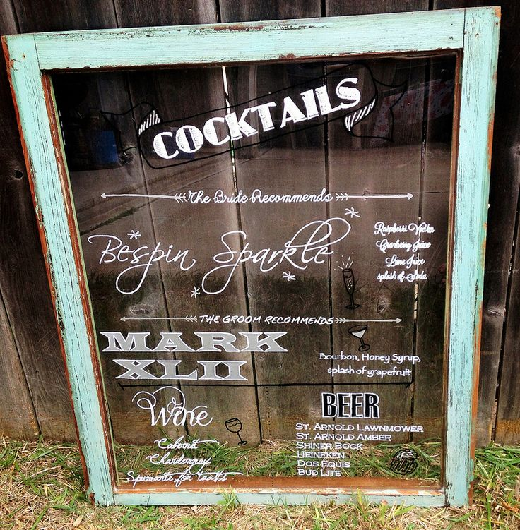 How to make an antique window wedding menu display