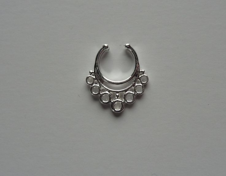 Silver Fake septum ring, fake nose ring, silver fake nose ring, fake nose ring, silver fake septum ring, septum ring, silver septum ringS34