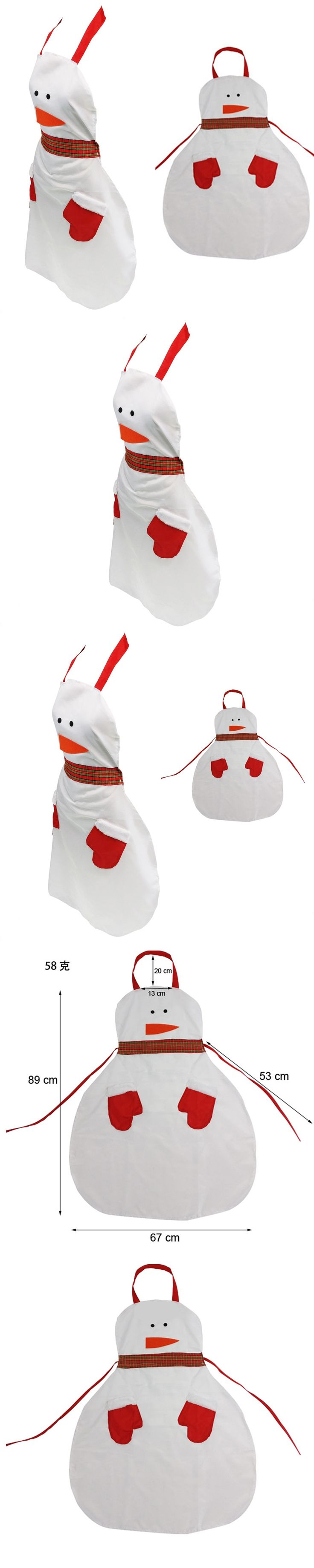 2017 New Christmas Apron Decoration for home for women Snowman Santa Spoof Sexy Novelty Party men Kitchen Cooking BBQ Bar Funny