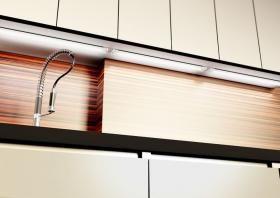 aranżacja wnętrz - Wykorzystano oprawę DART LED natynkowa z zasilaczem zewnętrznym /oświetlenie LED/