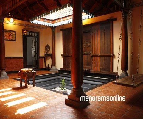 Beautiful Traditional courtyard homes in India are built around courtyard and all family