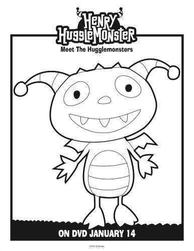 Henry Hugglemonster Coloring Page