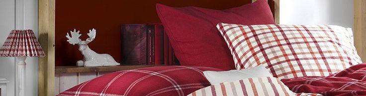 Rot und weiß kariert! Für Bettwäsche, dazu noch warme Winterbettwäsche, ist das immer Trend! Kuscheliger Flanell lässt grüßen ;-)