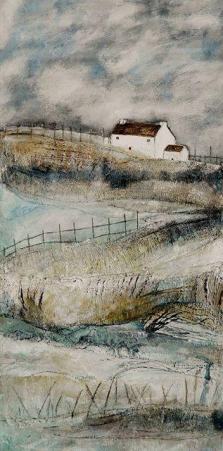 'Misty Moor and twisty turns' by Louise O'Hara of DrawntoStitch www.facebook.com/DrawntoStitch