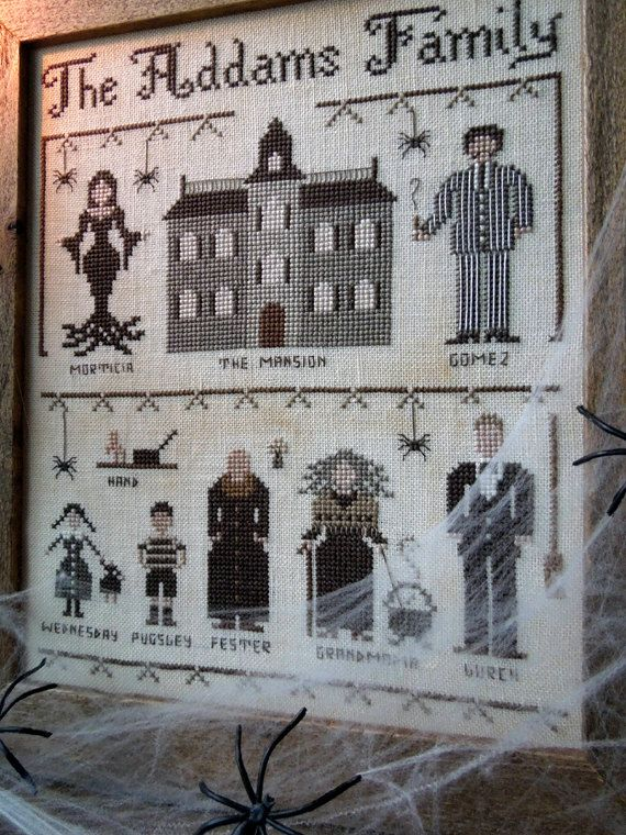 The Addams Family - PDF Cross Stitch Pattern by The Little Stitcher
