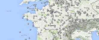 Trafic aérien en France