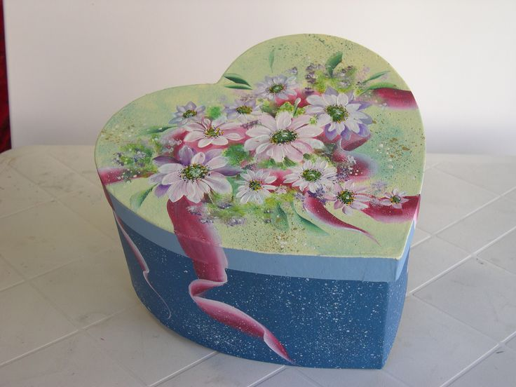 Caixa pintada com Tintas Acrílicas  Nature Colors Acrilex.