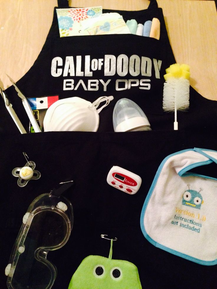 First fathers day daddy doody apron daddy baby shower