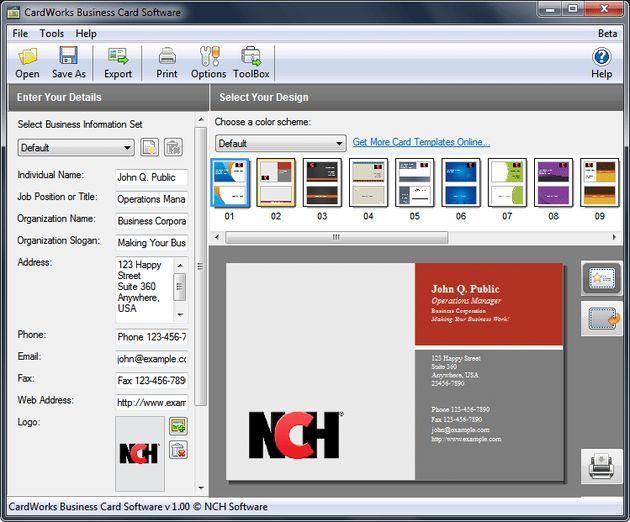 51 best awebs images on pinterest hama bead hama beads and how to cardworks free business card software crea e imprime tus tarjetas de visita m4hsunfo