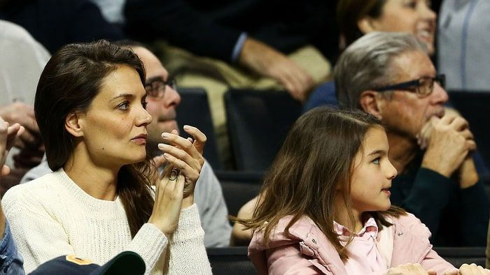 Katie Holmes took her mini-me daughter, Suri Cruise, to catch some March Madness at a Notre Dame game!